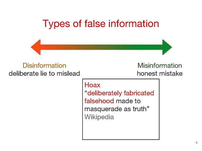 disinformation graphic